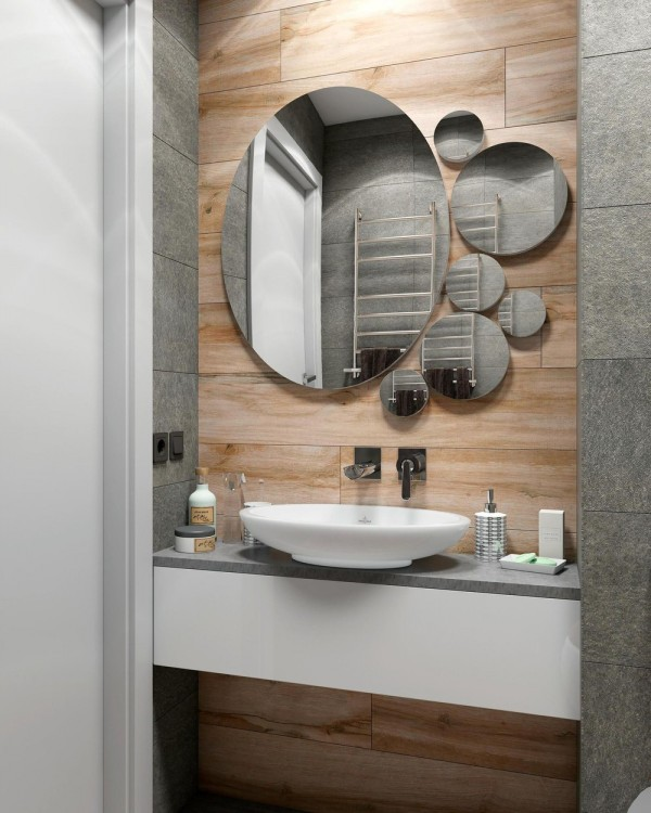 cute-wood-and-stone-bathroom-600x750