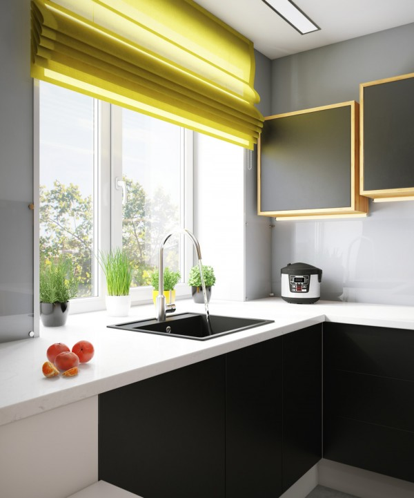 modern-yellow-and-black-kitchen-600x721